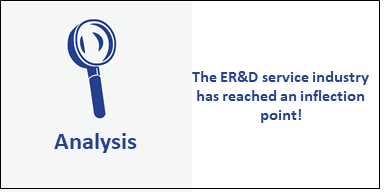 The ER&D service industry is getting closer to a spending inflection point