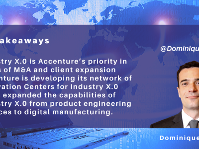 NelsonHall: Accenture's Industry X.0 Expands its Focus to Digital Manufacturing Use Cases