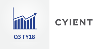 Cyient Enjoys Solid 12% Revenue Growth in Q3 FY18 Despite Decline in DLM Business